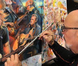 Marc Lacourciere, Eagles Rock Band Painting