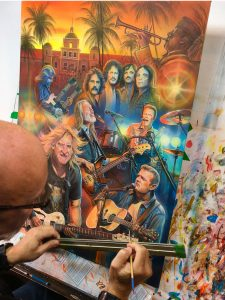 Painting of Eagles Rock Band