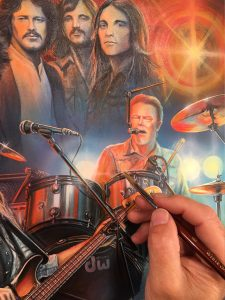 Eagles Rock Band Tribute Painting