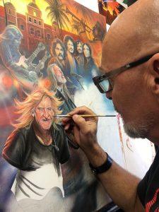 Eagles Rock Band Painting - by premier artist, Marc Lacourciere