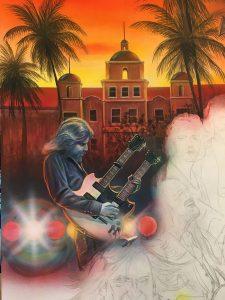 Eagles Rock Band Tribute Painting - Marc Lacourciere