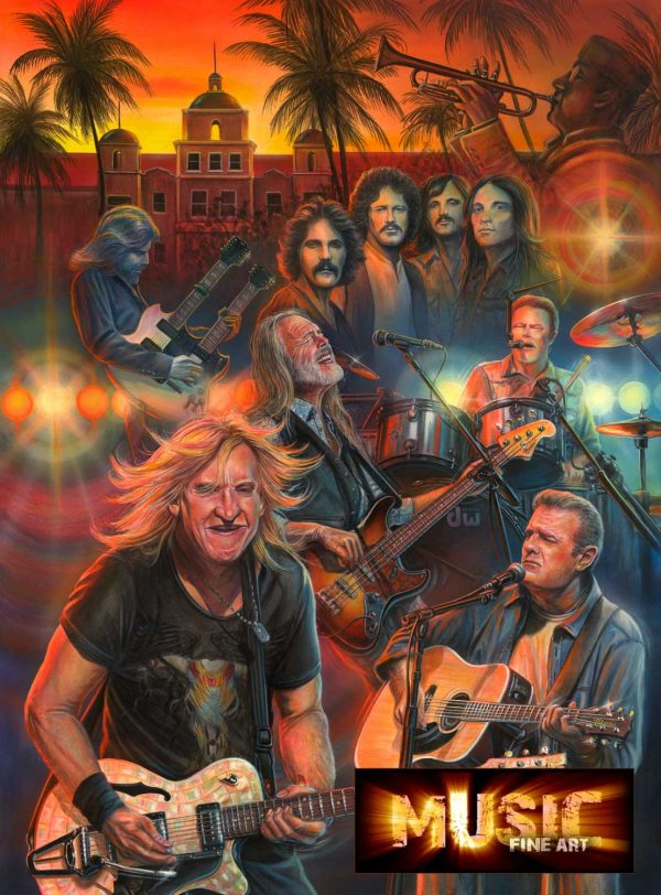 Eagles Rock Band Painting