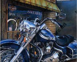 Harley Davidson Artwork by Marc Lacourciere