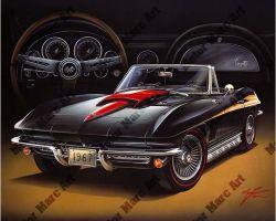Corvette Artwork by Marc Lacourciere