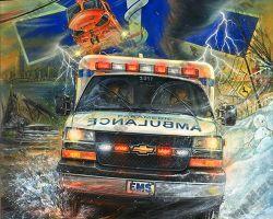 Ambulance Artwork by MarcLacourciere
