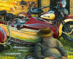 Motorcycle Artwork - Magazine Cover by Marc Lacourciere
