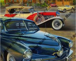 Classic Car Artwork by Marc Lacourciere