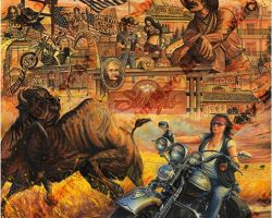 Motorcycle Artwork - Sturgis Series by Marc Lacourciere