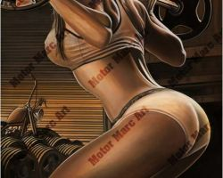 Boudoir Artwork - Pumping Iron by Marc Lacourciere