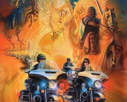 Motorcycle Artwork - Emergency Vehicles Series by Marc Lacourciere