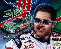 NASCAR Artwork - Bobby Labonte by Marc Lacourciere