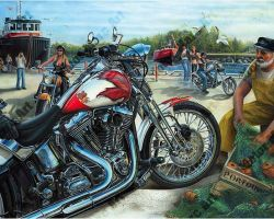 Motorcycle Artwork - Friday 13th by Marc Lacourciere