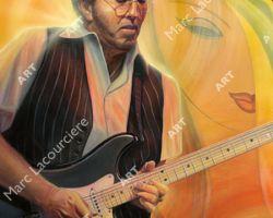 Eric Clapton Artwork - Portrait by Marc Lacourciere