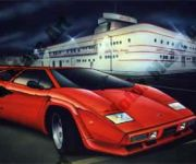 Lamborghini Artwork by Marc Lacourciere