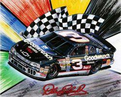 NASCAR Artowrk - Dale Earnhardt by Marc Lacourciere