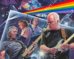 Pink Floyd Artwork - Portrait by Marc Lacourciere