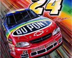 NASCAR Artwork - Jeff Gordon by Marc Lacourciere