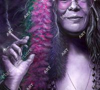 Janis Joplin Artwork - Portrait by Marc Lacourciere