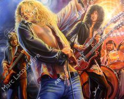 Led Zeppelin Artwork - Portrait by Marc Lacourciere