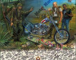 Motorcycle Artwork - Vietnam Series by Marc Lacourciere