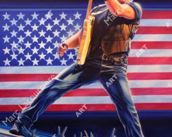 Bruce Springsteen Artwork - Portrait by Marc Lacourciere