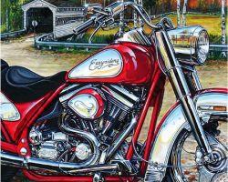 Motorcycle Artwork - Easy Rider Edition by Marc Lacourciere