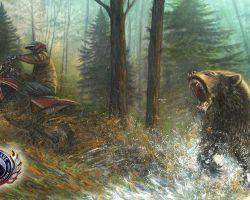 Motorcycle Artwork - Wildlife Series by Marc Lacourciere